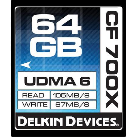 Delkin GB Compact FlashMemory Card MBs Read Speed MBs Write Speed Slow Motion Approved Made the USA 225 - 295