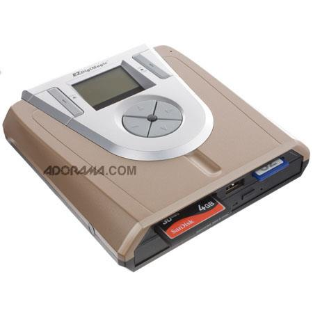 EZDigiMagic Portable DVD Burner Flash Memory Card to DVD Disc Portable Memory Device 95 - 256