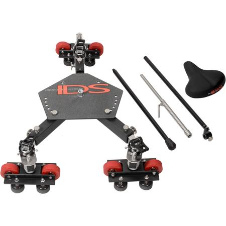 Indie Dolly Systems CTD Universal Dolly Seat and Push Bar Adjusts to Any Track Width Straight or Cur 43 - 791