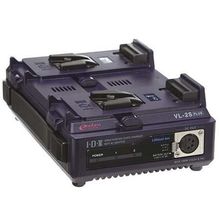 IDX Endura VL SPlus Channel Simultaneous Multi Format V Mount Quick ChargerPower Supply 47 - 335