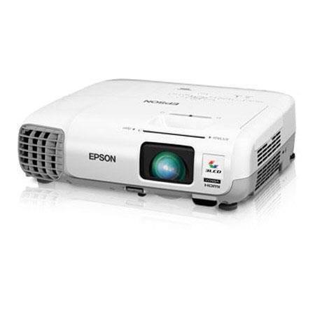 Epson PowerLite W WXGA LCD Projector Lumens Aspect Ratio W Monaural Speaker W UHE Lamp HDMIVGAUSB 58 - 209