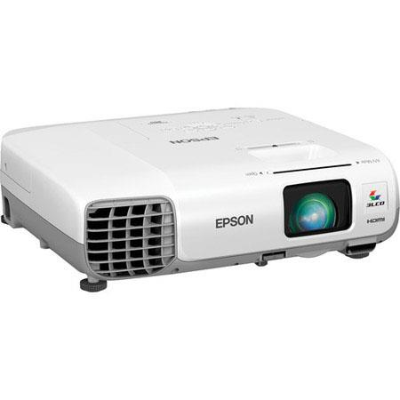 Epson PowerLite XGA LCD Multimedia Projector Lumens Aspect Ratio W Speaker Hour Lamp HDMIVGAUSB 286 - 123