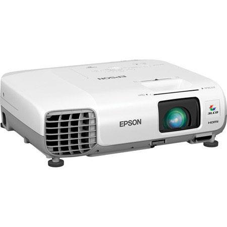 Epson PowerLite XGA LCD Multimedia Projector Lumens Aspect Ratio W Speaker Hour Lamp HDMIVGAUSB 77 - 513