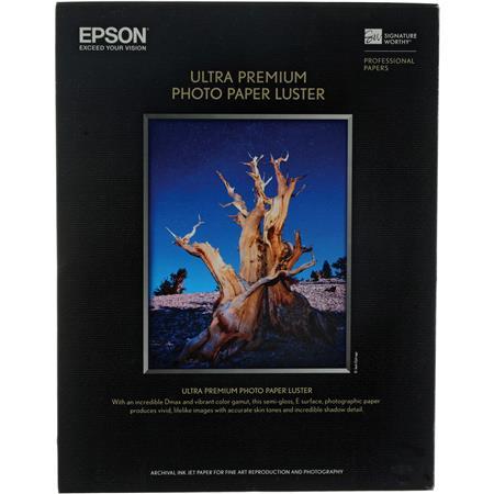 Epson Ultra Premium Luster Resin Coated Photo Inkjet Paper milSheets 107 - 709