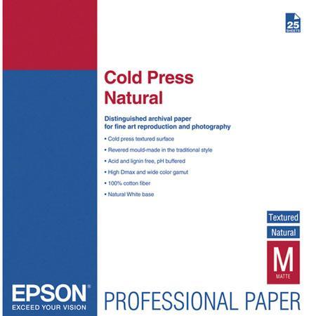 Epson Cold Press Natural Fine Art Textured Matte Cotton Rag Inkjet Paper mil gmSheets 122 - 478
