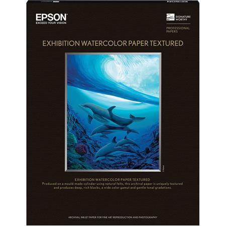 Epson Exhibition Watercolor Paper Textured gsmCut Sheets SheetsBox 126 - 25