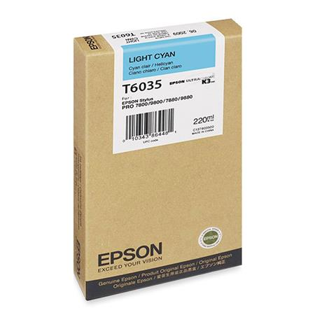 Epson UltraChrome ml K Light Cyan Pigment Based Ink the Stylus Pro Inkjet Printers 205 - 500