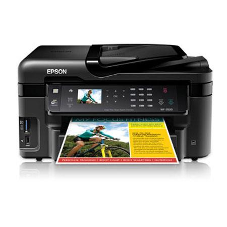 Epson WorkForce WF All One Inkjet Printerdpi ISO ppm ISO ppm Color USB Print Copy Scan Fax 137 - 624