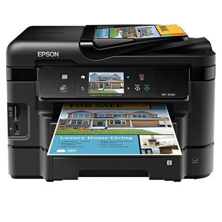 Epson Work Force WF All One Wireless Color Inkjet Printer ppm ppm ColorPrint Copy Scan Fax 2 - 325
