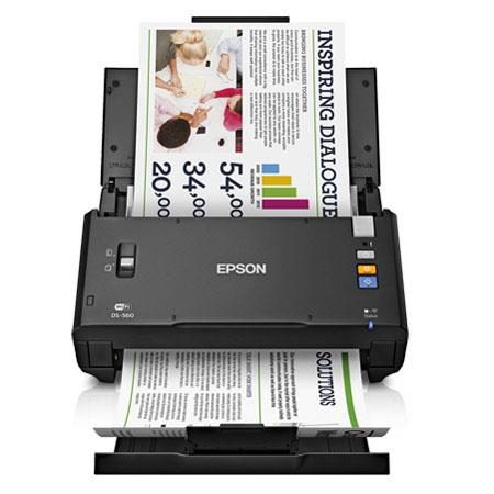 Epson WorkForce DS Wireless Color Document Scanner ppmipm at dpi dpi Optical dpi Output Sheets USB W 95 - 256