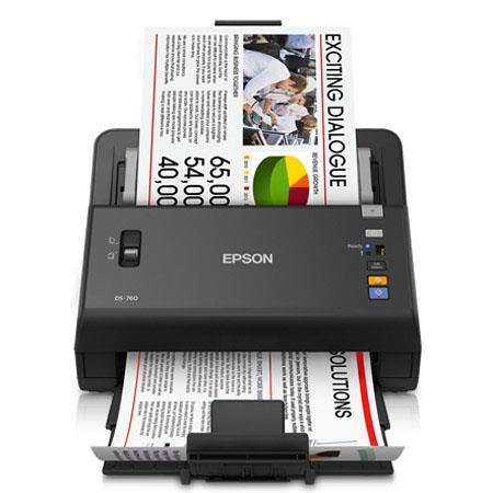 Epson WorkForce DS Wireless Color Document Scanner ppm ipm at dpi dpi Optical dpi Output Sheets ADF  334 - 76
