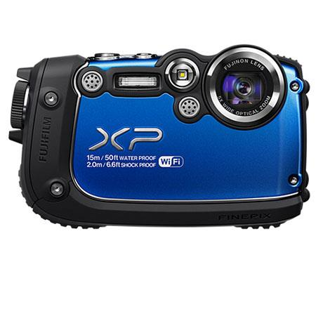 Fujifilm FinePiXP Waterproof Digital Camera MP CMOS FSI MP Sensor LCDOptical Zoom HDMI p fps Blue 228 - 230