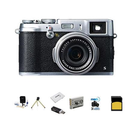 Fujifilm XSSilver Digital Camera Bundle New Leaf Year Extended Warranty Flashpoint Mini Multi Card R 52 - 503