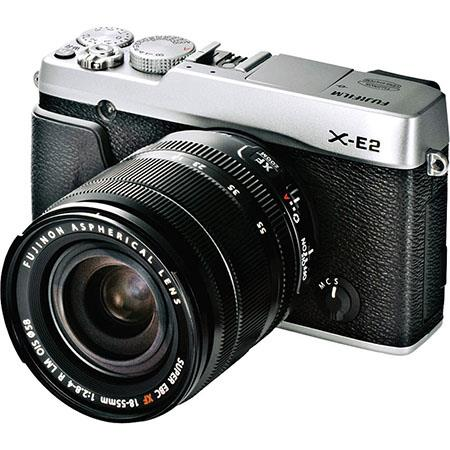 Fujifilm X E Mirrorless Digital Camera Kit XF F LM OIS Lens Silver 259 - 309