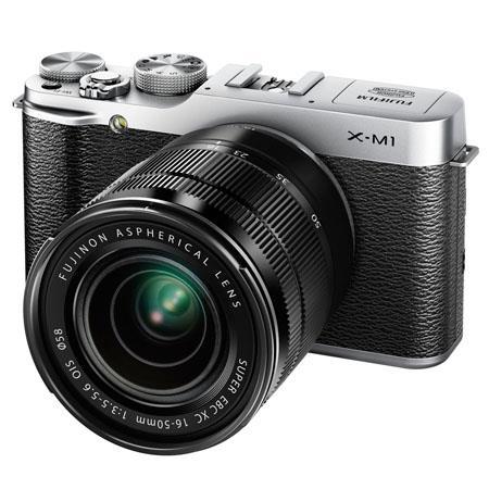 Fujifilm X M Mirrorless Digital Camera Body XC F OIS Lens Silver 85 - 666