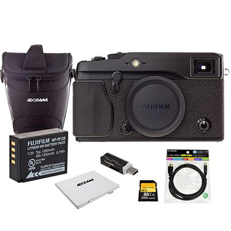 Fujifilm X PRO Mirroless Digital Camera Body Bundle with Spare Fujifilm NP W Battery GB SD Memory Ca 70 - 644