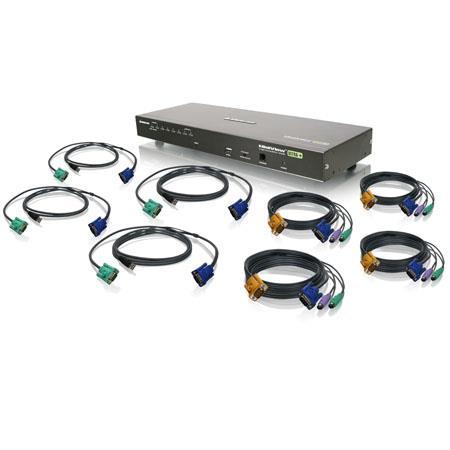 Iogear Port USB PS Combo VGA KVM Switch Cables 139 - 334