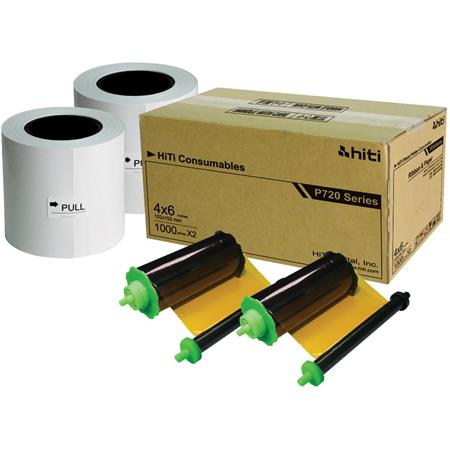 HiTiRolls of Ribbon and Paper Case PL Photo Printer Prints Per Case 64 - 457
