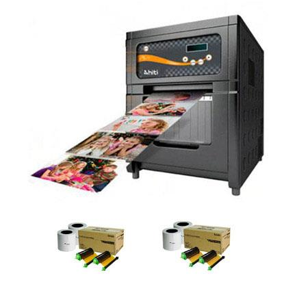 HiTi PL Photo Printerdpi Resolution USB Hi Speed Dye Diffusion Thermal Transfer Bundle HiTiRolls of  58 - 499
