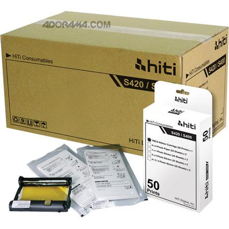 HiTi Digital IncPrints Photo Paper Ribbon Pack S Printer Carton Packs 116 - 285