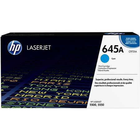 HP CA Color LaserJet Cyan Print Cartridge Yields up to Pages 75 - 343