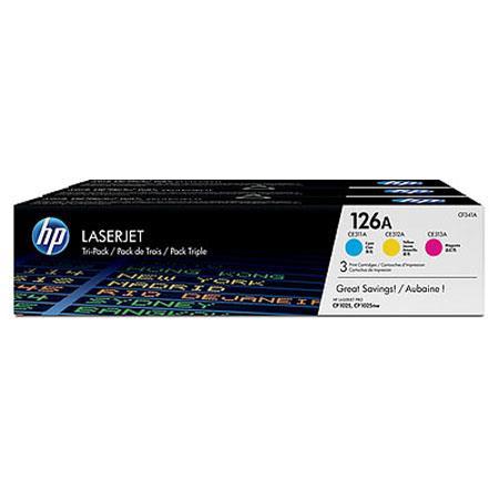 HP A CyanMagentaYellow Tri pack LaserJet Toner Cartridge 71 - 140