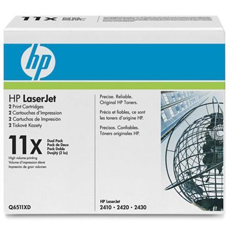 HP QXD LaserJet Print Cartridge Dual Pack Smart Printing TechnologyPage Yield 55 - 417