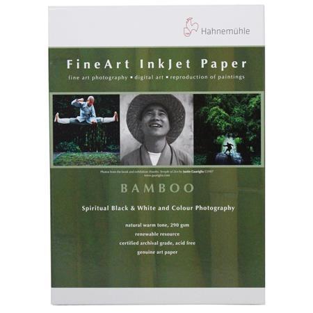 Hahnemuhle Fine Art Bamboo Fiber Natural Smooth Warm Tone Inkjet Paper gsmSheets 185 - 326