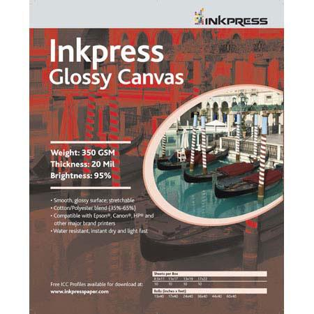 Inkpress Artists Waterproof Stretchable Canvas Bright Glossy Inkjet Cloth mil gsmRoll 170 - 102