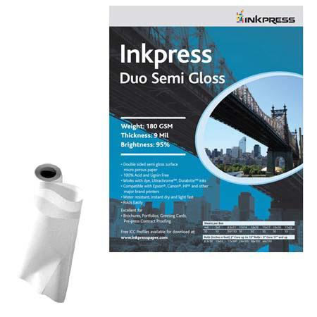 Inkpress Duo Semi Gloss Double Sided Luster Surface Inkjet Paper gsm milRoll 86 - 755