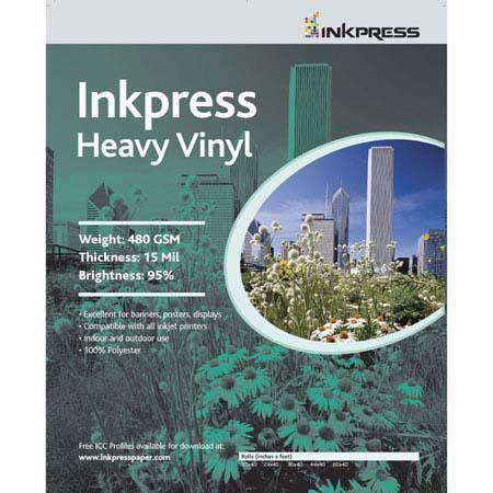 Inkpress Signage Media Heavy Weight Vinyl Scrim Banner Material Indoor Outdoor Use milRoll 56 - 131
