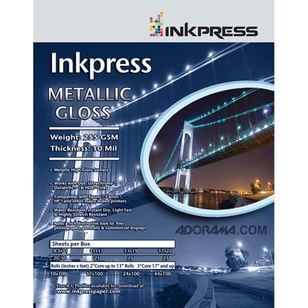 Inkpress Metallic Paper gsm mil Metallic Glossy SurfaceSheets 262 - 318