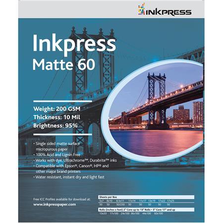 Inkpress Matte Single Sided Bright Inkjet Paper mil gsmSheets 239 - 144