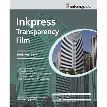 Inkpress Transparency mil Resin Based Inkjet FilmSheets 133 - 160