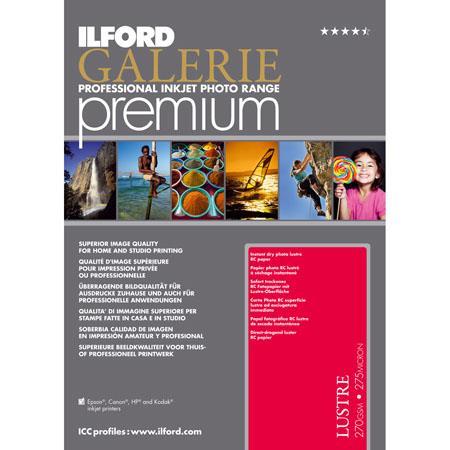 Ilford GALERIE Premium Lustre Inkjet Photo Paper gsmSheet Pack 53 - 37