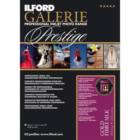 Ilford GALERIE Prestige Gold Fibre Silk Inkjet Paper gsmSheet Pack 290 - 233