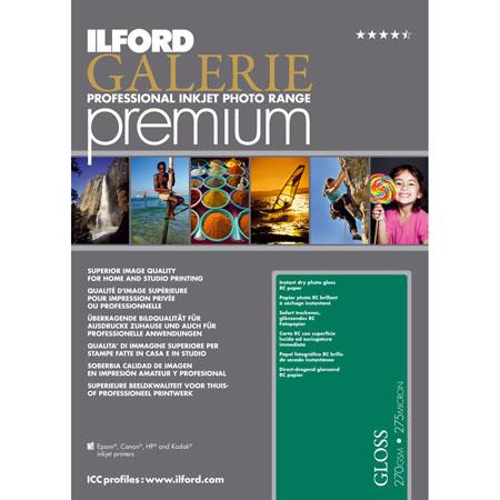 Ilford GALERIE Premium Gloss gsm Inkjet PaperSheet Pack 62 - 269
