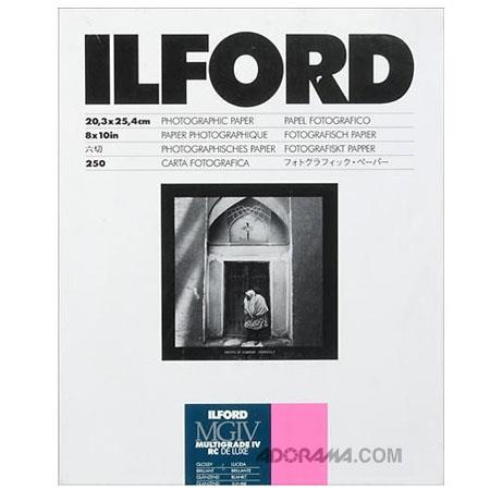 Ilford Multigrade IV RC Deluxe Resin Coated VC Variable Contrast Enlarging PaperSheets Glossy Surfac 145 - 103