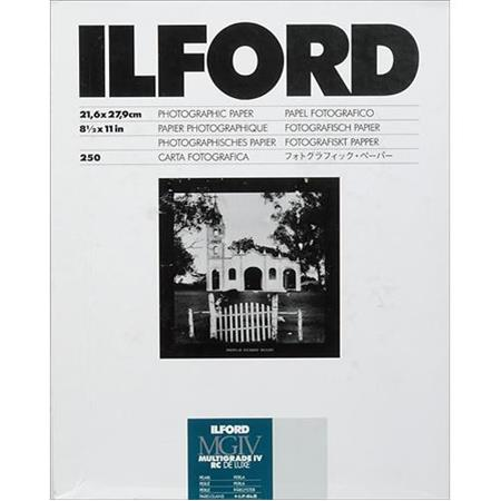 Ilford Multigrade IV RC Deluxe Resin Coated VC Variable Contrast Enlarging PaperSheets Pearl Surface 263 - 330