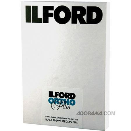 Ilford Commercial Ortho Plus Orthochromatic Copy Film ISOSize 79 - 119