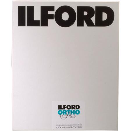 Ilford Commercial Ortho Plus Orthochromatic Copy Film ISO Sheets 12 - 166