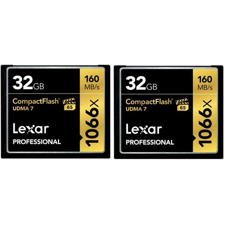 Lexar GB ProfessionalCompactFlash Memory Card Pack Of Two 14 - 510