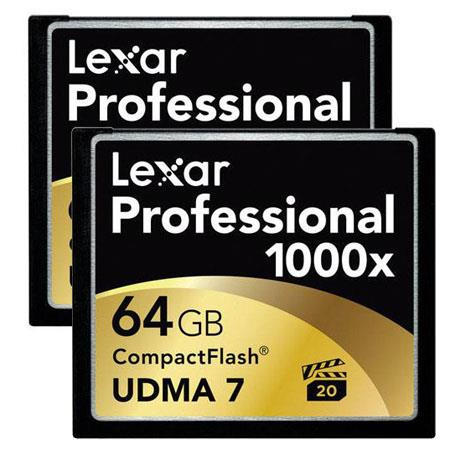 Lexar GB ProfessionalCompactFlash Memory Card Two Pack 188 - 401