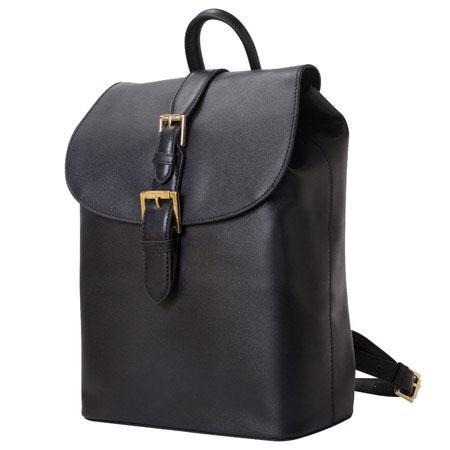 Isaac Mizrahi Kathryn Genuine Leather Mini Camera Backpack Removable Internal Padded Pouch DSLR Lens 201 - 473