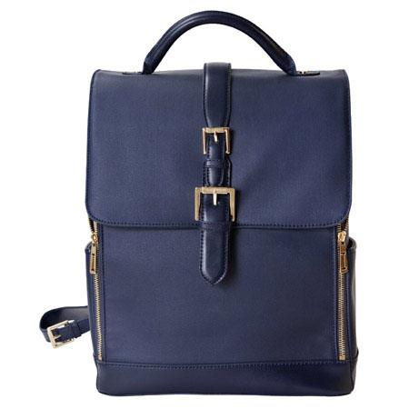 Isaac Mizrahi Kathryn Full Size Coated Canvas Camera Backpack DSLR Up to Lenses Accessories and Othe 284 - 116