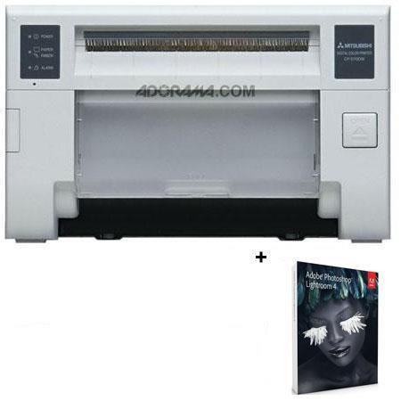 Mitsubishi CP DDW Single Deck Compact Photo Printer Bundle Adobe Photoshop Lightroom V Software 31 - 582