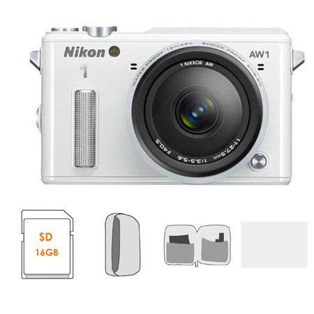 Nikon AW Waterproof Mirrorless Digital Camera AW f Lens BUNDLE GB Class SDHC Card Camera Case Lens C 99 - 617