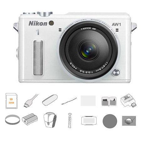 Nikon AW Waterproof Camera AW Lens BUNDLE GB Card Filter Kit UVCPND WU b Mobile Adapter HDMI Cable S 231 - 247