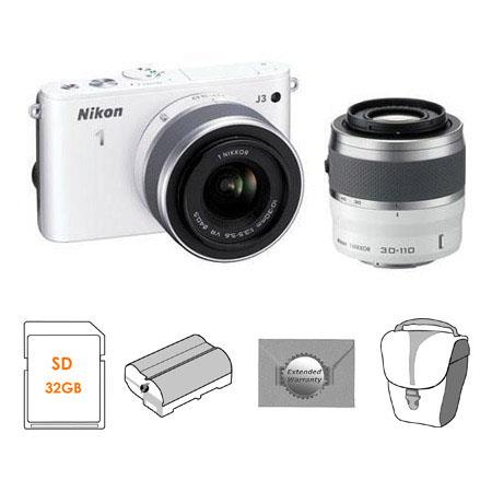Nikon J Mirrorless Digital Camera Lens Kit mm VR Lenses Bundle Nikon Body Case Set new Leaf Year Ext 90 - 127