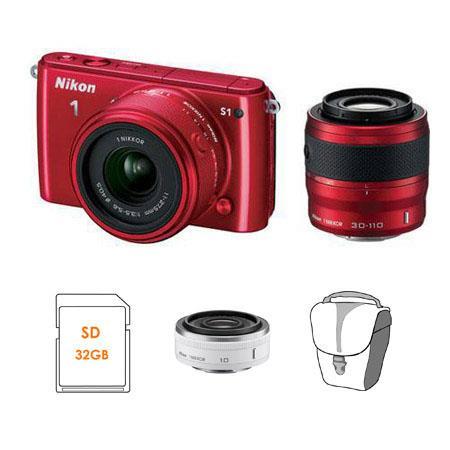 Nikon S Mirrorless Digital Camera mm Lenses Bundle Nikon Nikkor f Lens Nikon Body Case Set GBSDHC Me 220 - 672